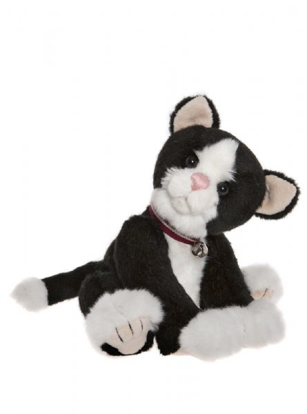 Jinksy, Black and white cat by Charlie Bears.